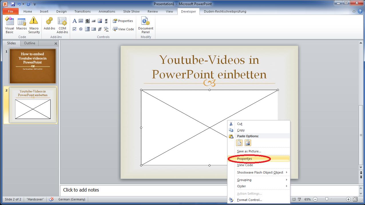 4_youtube_videos_in_powerpoint_2007_einbetten