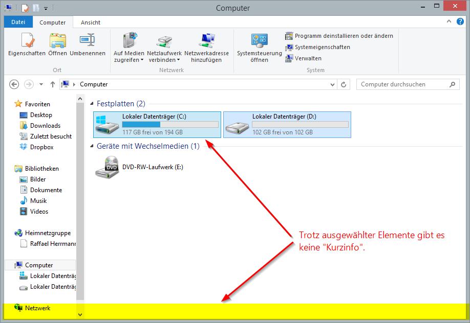 Show Status Bar In Windows 8 Explorer En Code Bude Net