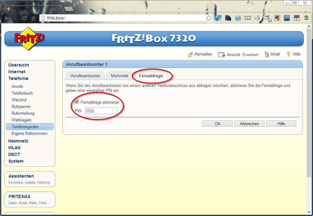 Remote access fritzbox answering machine - Fritzbox 7330 login ...