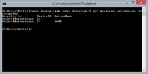 Show all drives in CMD