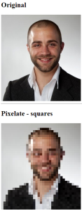 How to pixelate images using Javascript