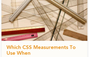 css measurements