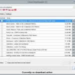 Cloud Downloader 2.5 - Song list