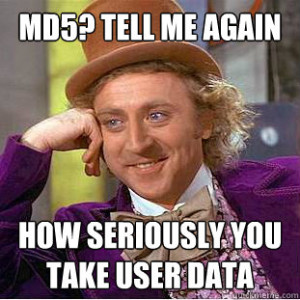 MD5 ist unsicher