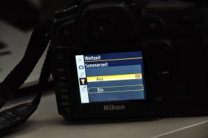 Zeitumstellung Nikon D80