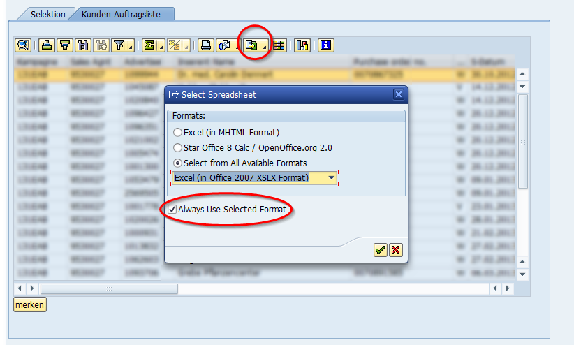 How to reset the spreadsheet export format in ALV | en code
