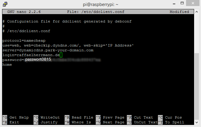 How to setup DDclient on Raspberry Pi for use with Namecheap DynDNS