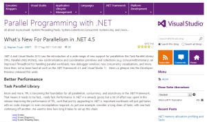 parallel programming in .net 4.5