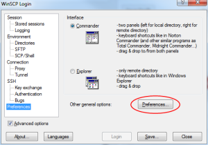 how to setup a custom text editor in WinSCP - step 2