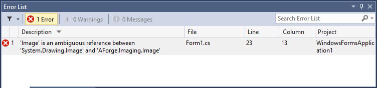 Visual Studio ambiguous reference error