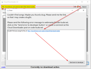 Cloud Downloader 2.8 - send error to developer dialog