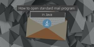 Open standard mail in Java